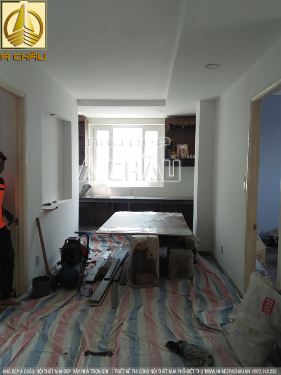 Hình ảnh thi công thi công nội thất chung cư